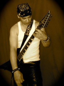 Paul Rubino guitarist and composer for Astral Eyes for Golden Age Metal 1985 article duh-guitars.com